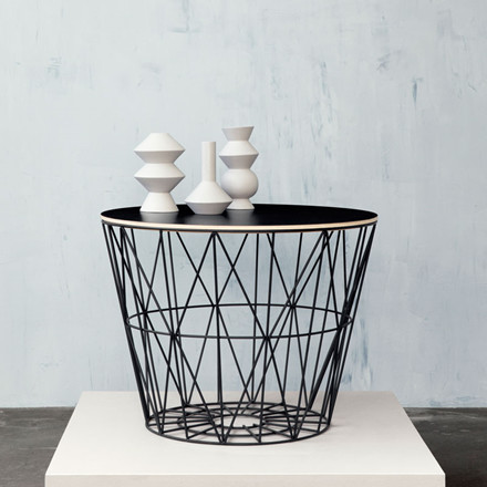 Ferm Living Wire Basket Top Røget Eg