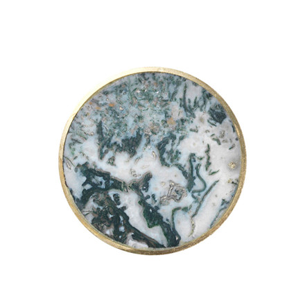 Ferm Living Stone Hook Agate Moss Large