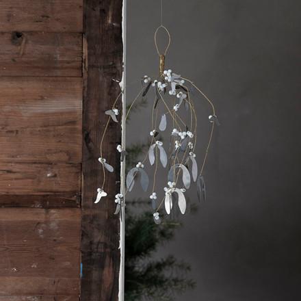House Doctor Ornament Misteltoe Large Antique Metallic