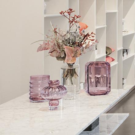 Louise Roe Wilma Glass Vase Burgundy