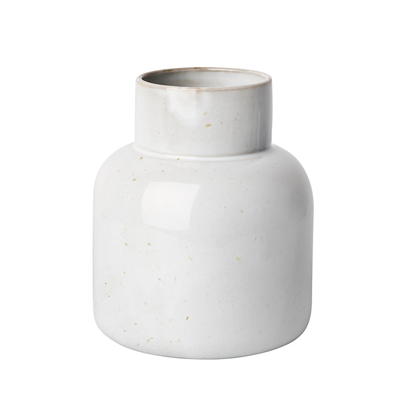 Image of   Fritz Hansen Earthenware Jar Vase Pale Grey