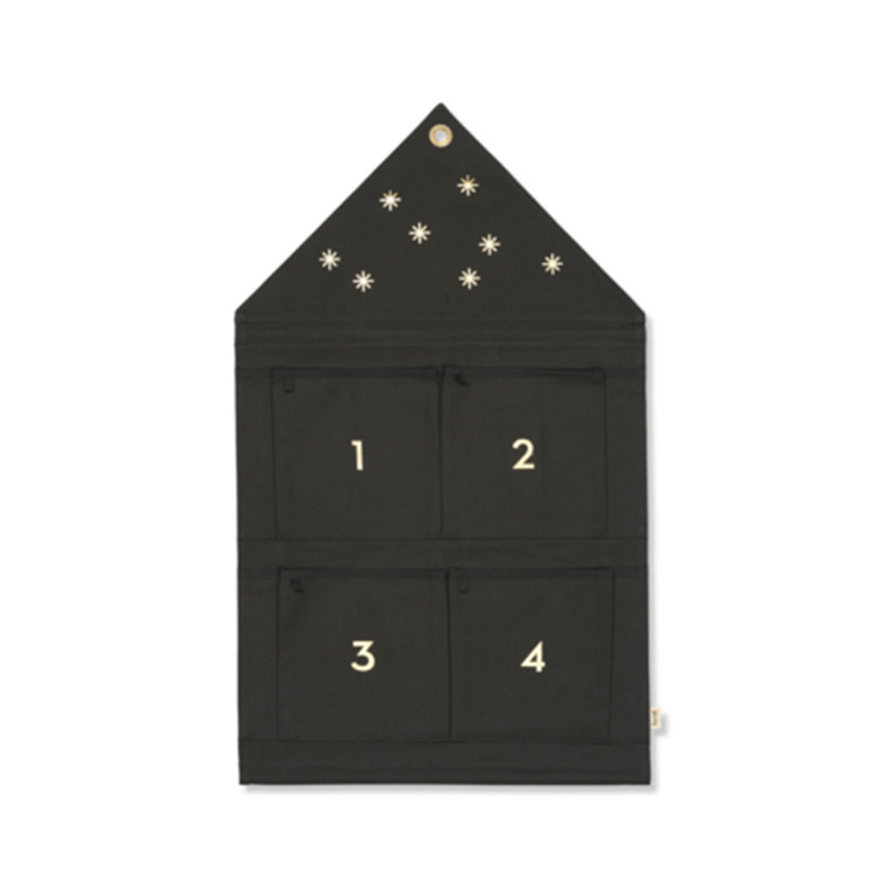 Image of   Ferm Living Star Advent Calendar Dark Green