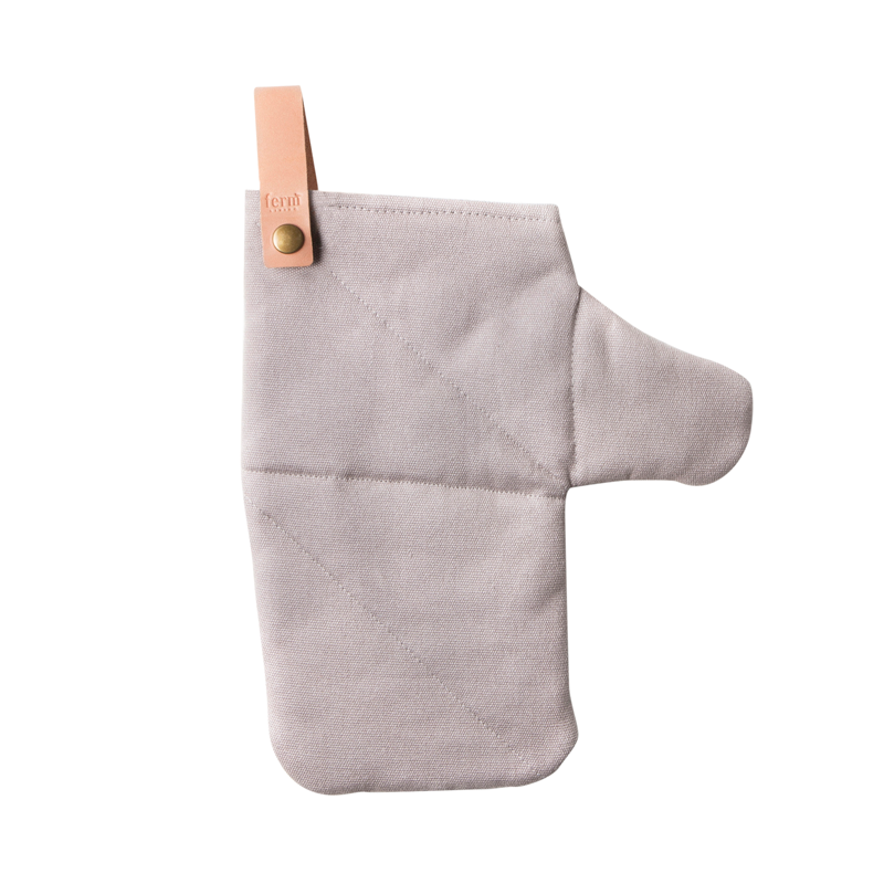 Ferm living canvas oven mitt grey