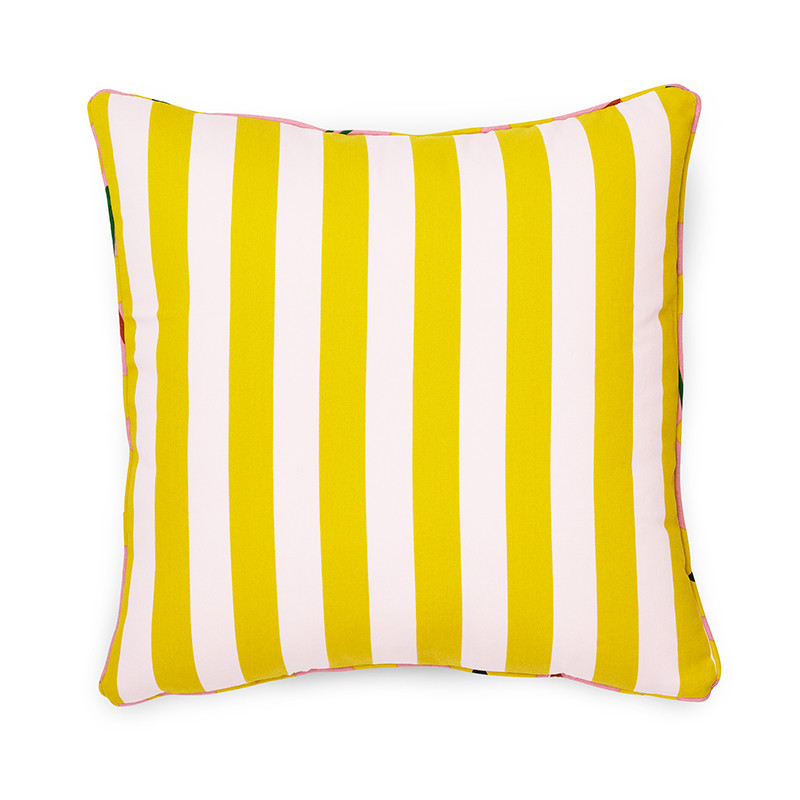 Image of   Normann Cph Posh Cushion Keep It Simple Pale Rose/Lemon Curry
