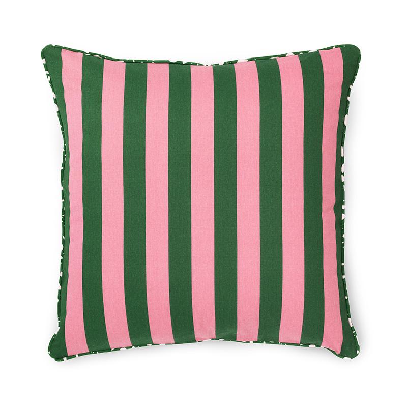 Image of   Normann Cph Posh Cushion Keep It Simple Dark Rose/Dark Green