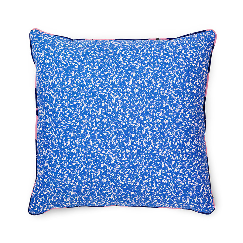 Image of   Normann Cph Posh Cushion Busy Structure True Blue