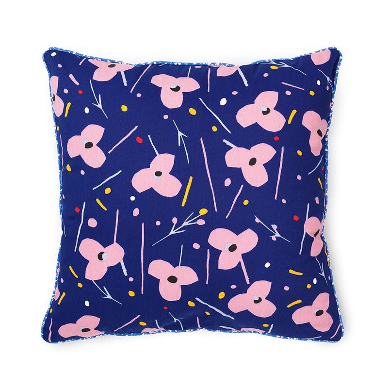 Image of   Normann Cph Posh Cushion La Grand Fleur Ink Blue