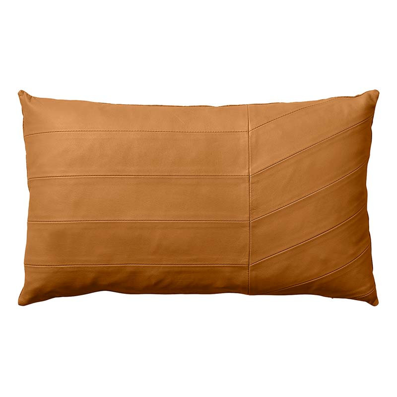 Image of   AYTM Coria Leather Cushion Amber