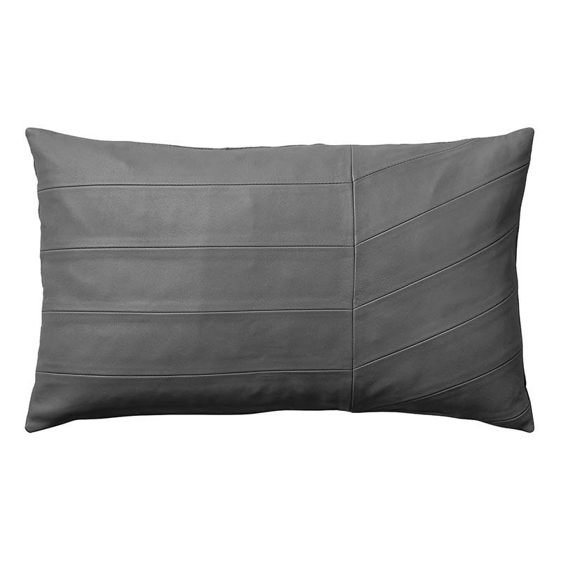 Image of   AYTM Coria Leather Cushion Dark Grey