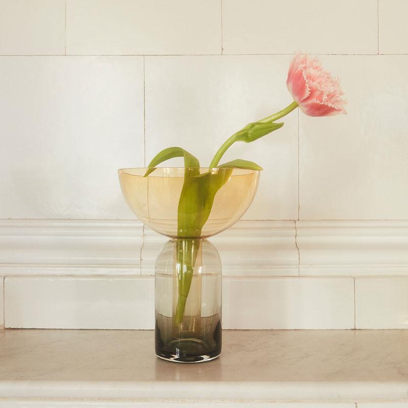 Aytm torus vase black/amber