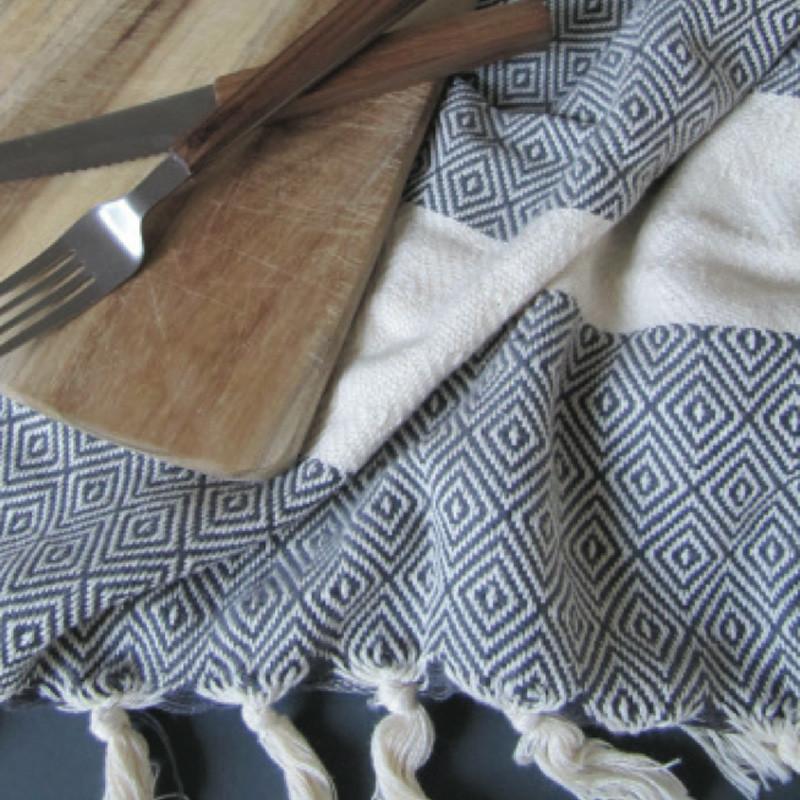 Algan – Algan elmas gæstehåndklæde xs grå fra livingshop