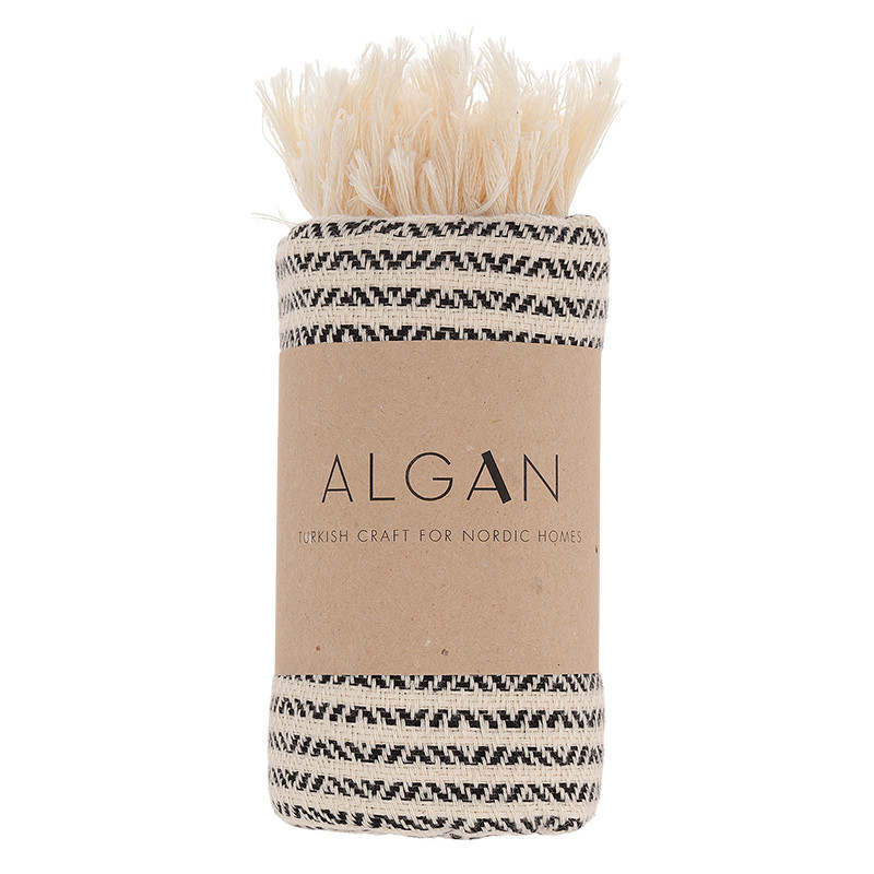 Image of Algan Elmas-iki Gæstehåndklæde Sort