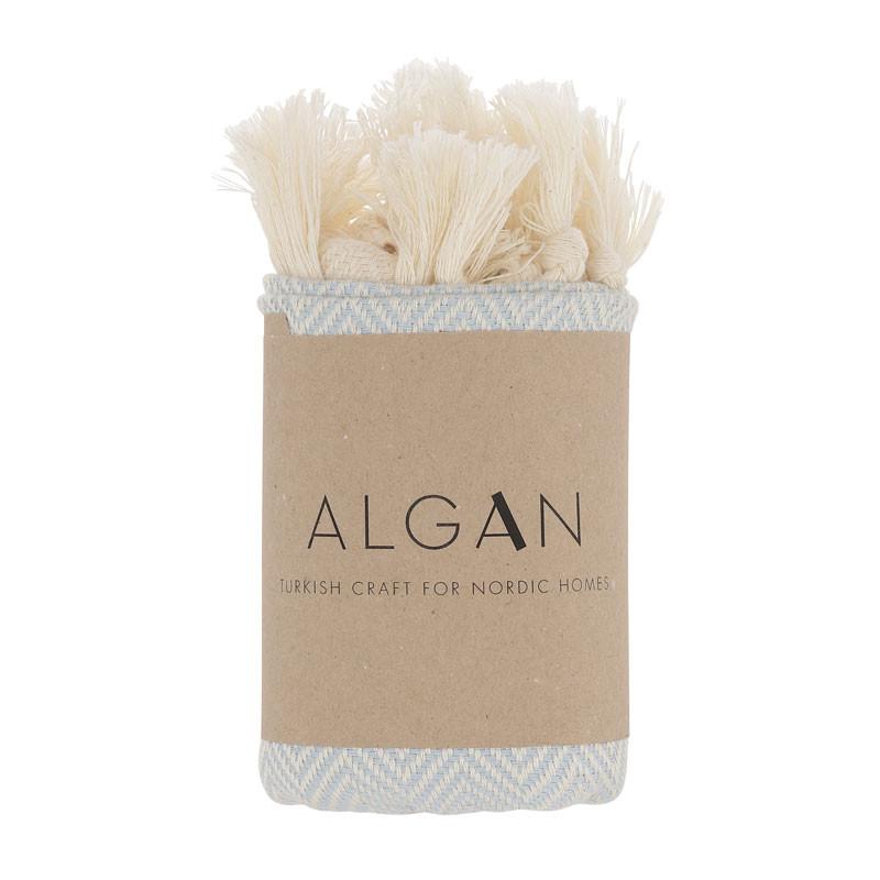 Image of   Algan Balik Gæstehåndklæde XS Lyseblå