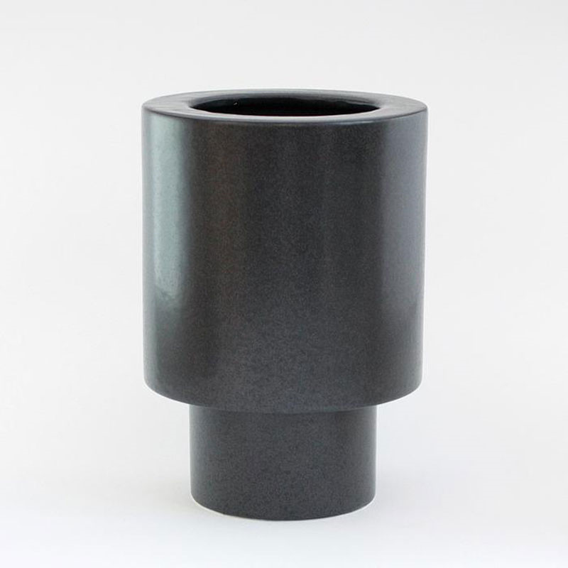 Image of   Ania ANNA Vase Dark Grey Dots