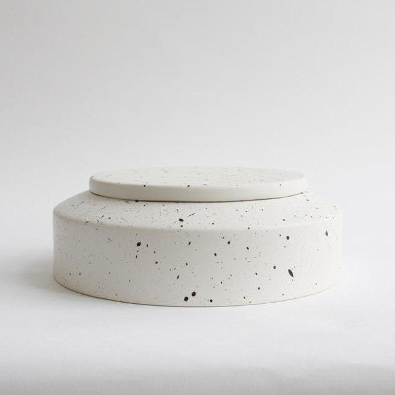 Image of   Ania IBSEN Jar With Lid White Dots