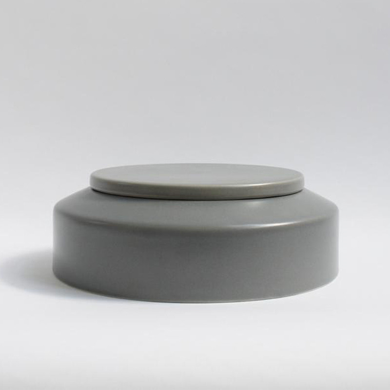 Image of   Ania IBSEN Jar With Lid Light Grey Dots