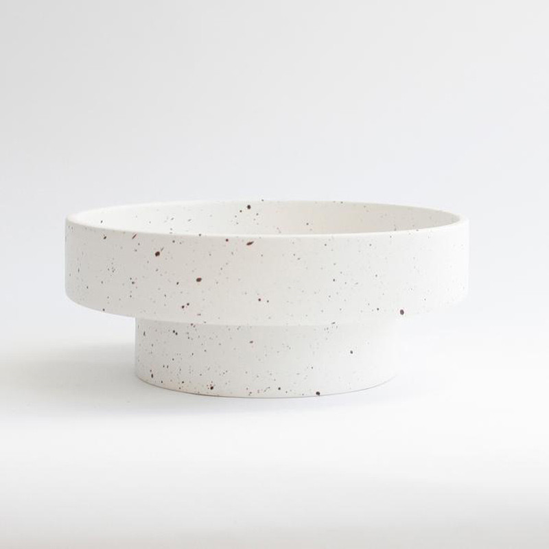 Image of   Ania IDA Double Dish White Dots