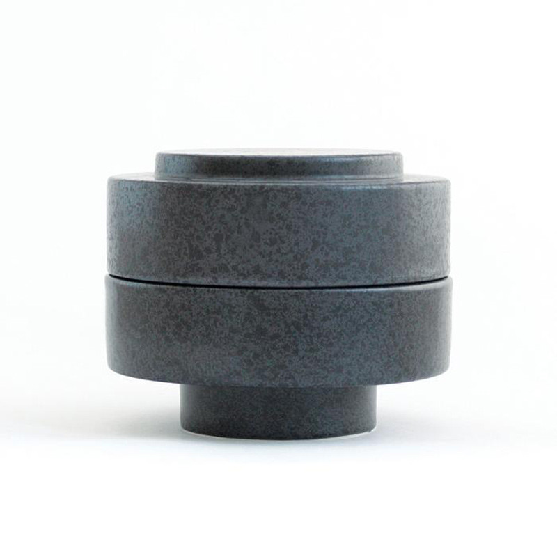 Image of   Ania KAREN Jar With Lid Dark Grey Dots