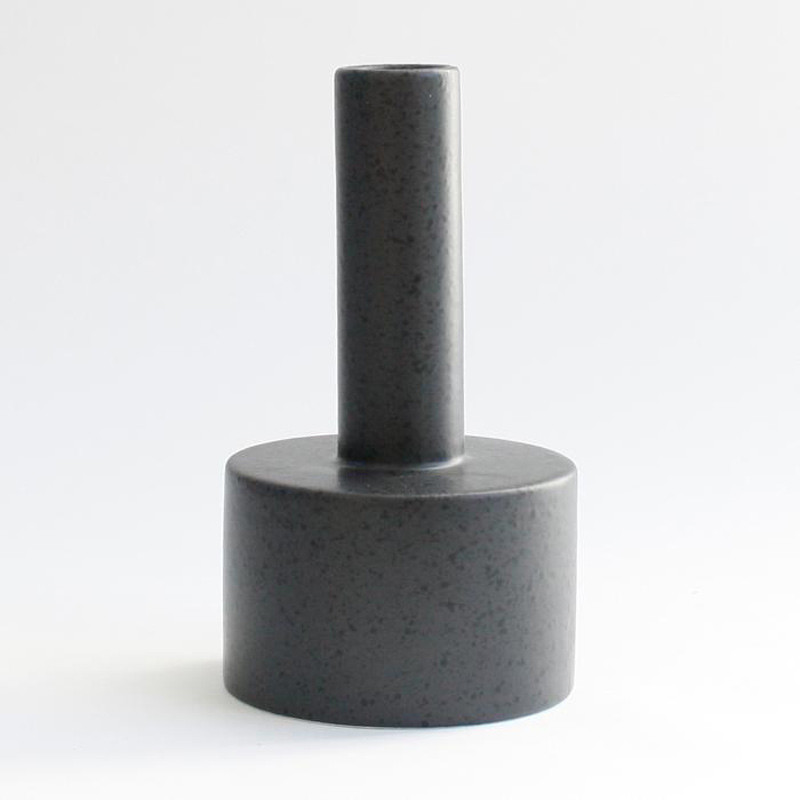 Image of   Ania KALLE Candle Holder Dark Grey Dots