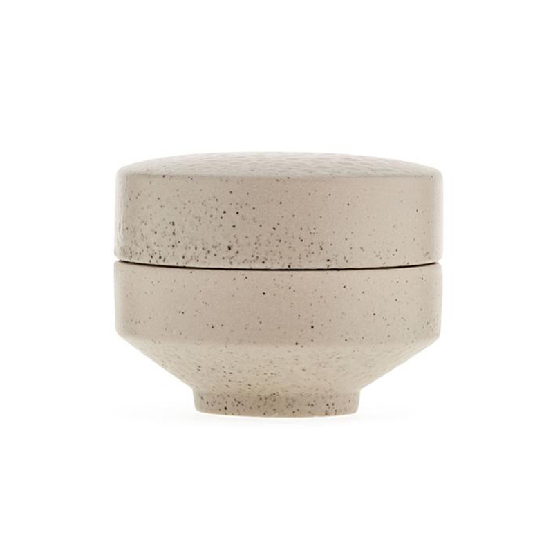 Image of   Ania ALFRED Jar With Lid Beige Stone
