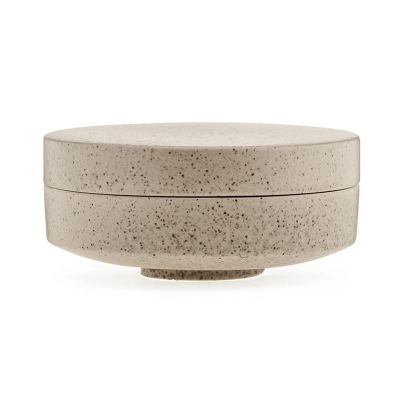 Image of   Ania ODIN Jar With Lid Beige Stone