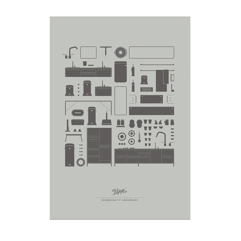 Vipp – Vipp 75 years anniversary plakat på livingshop