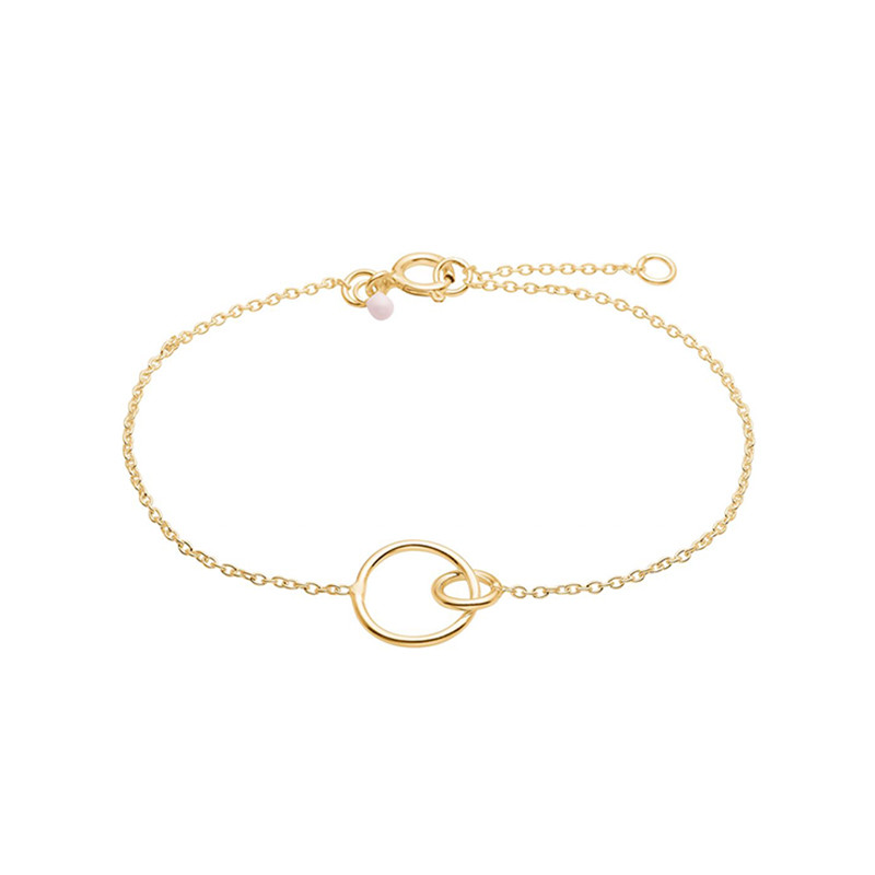 Image of   Enamel Copenhagen Double Circle Bracelet Gold-Plated