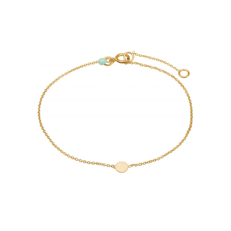 Image of   Enamel Copenhagen Coin Bracelet Gold-Plated