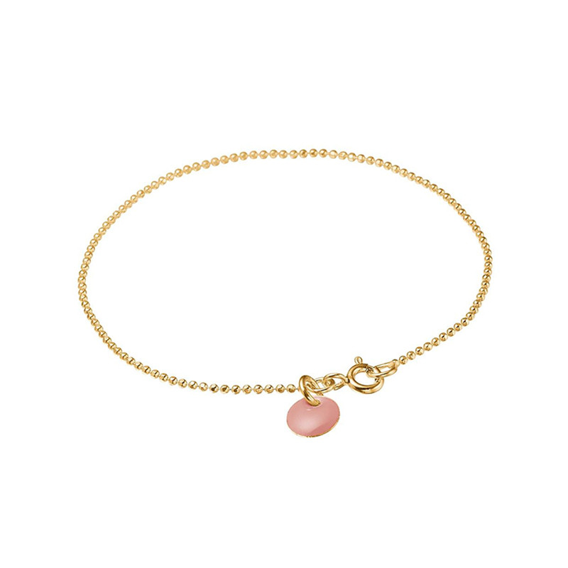 Image of   Enamel Copenhagen Ball Chain Bracelet Rose Gold-Plated