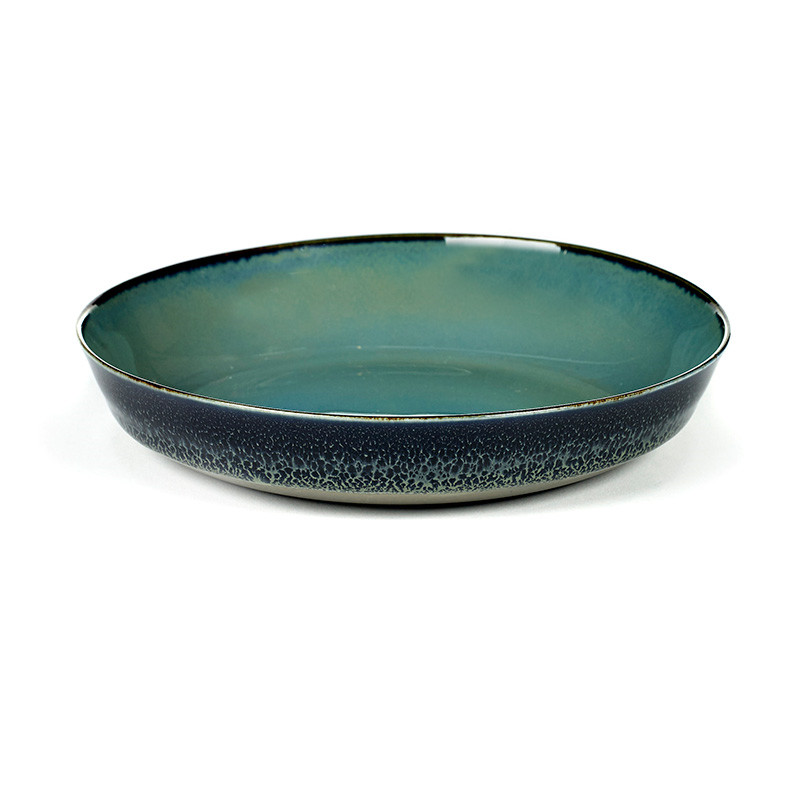 Image of   Serax Plate Small Blue Grey/Dark Blue