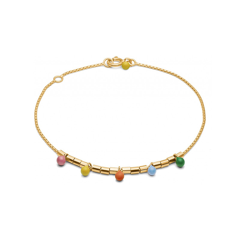 Image of   Enamel Copenhagen Rainbow Bracelet Gold-Plated