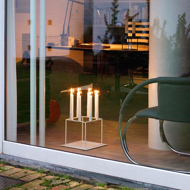 by lassen kubus bakke 8 lysestage. Black Bedroom Furniture Sets. Home Design Ideas