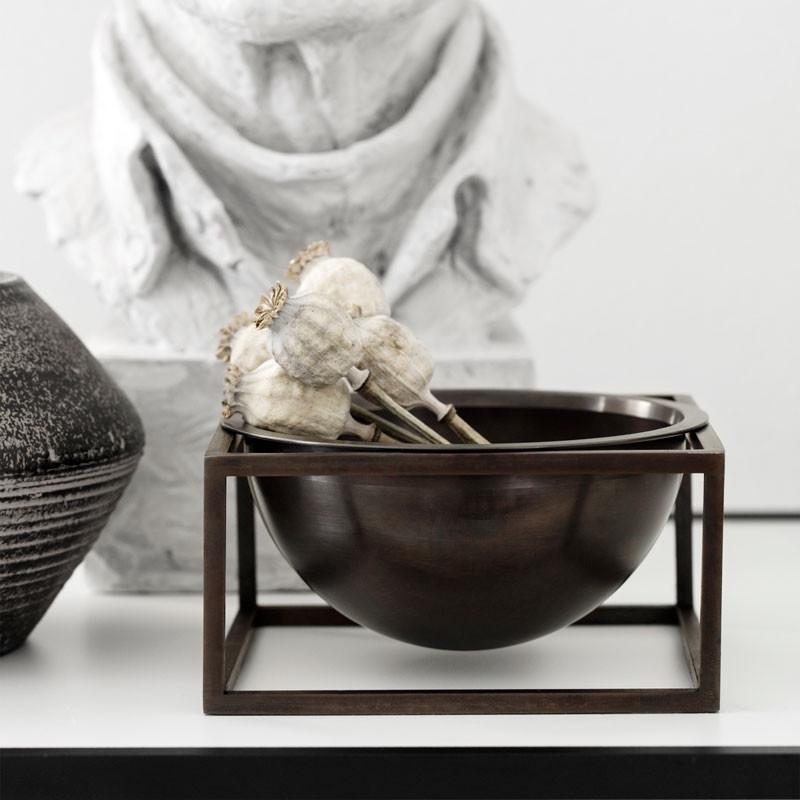 By lassen kubus bowl centerpiece small bruneret kobber