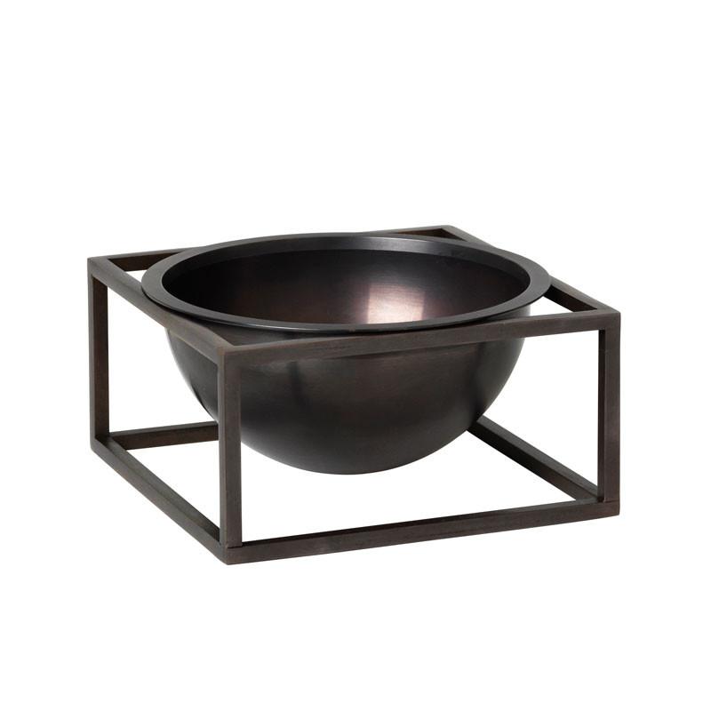 By Lassen Kubus Bowl Centerpiece Small Bruneret Kobber fra By Lassen