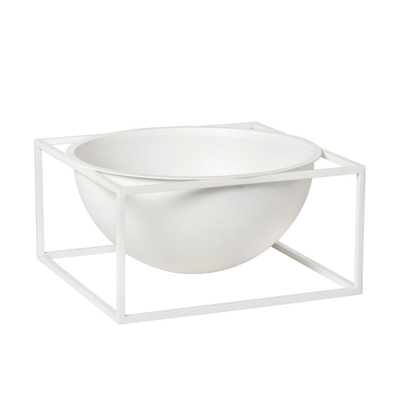 By Lassen Kubus Bowl Centerpiece Large Hvid fra By Lassen