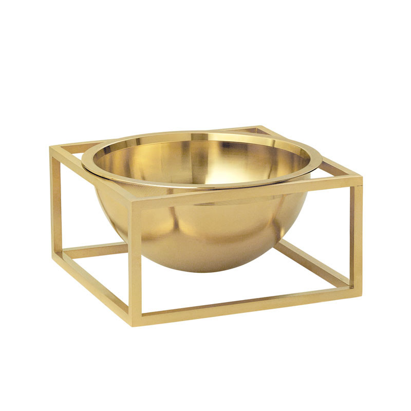 By Lassen Kubus Bowl Centerpiece Small Messing fra By Lassen