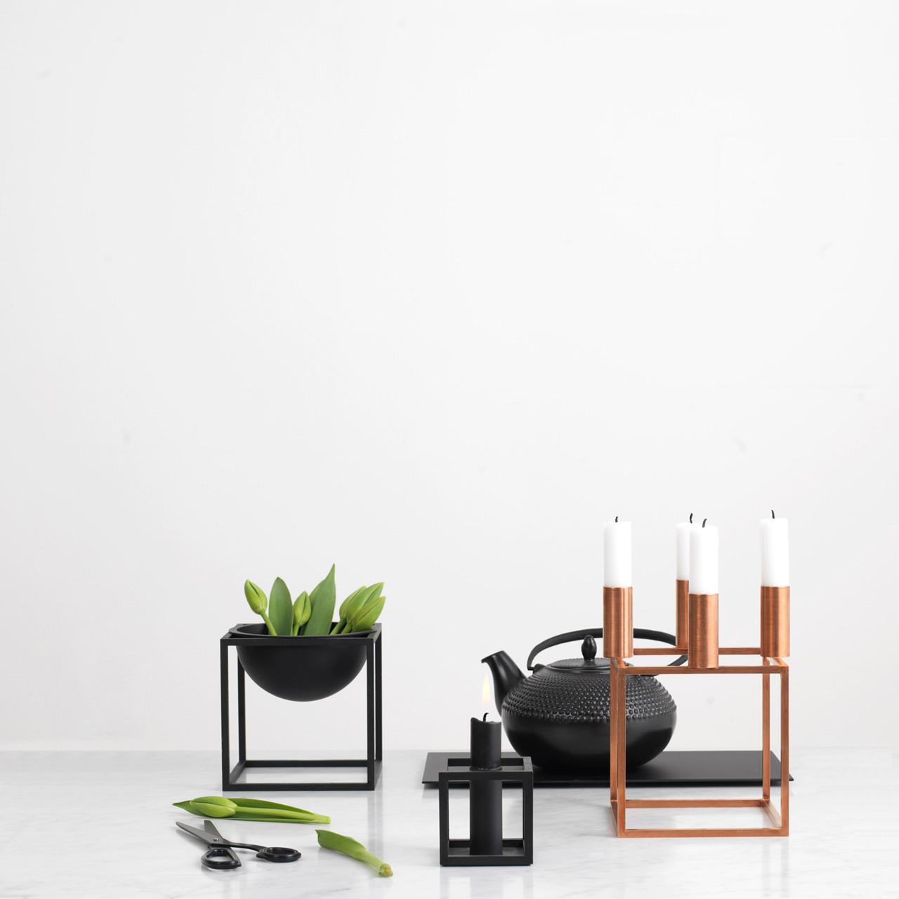 by lassen kubus 4 kobber lysestage. Black Bedroom Furniture Sets. Home Design Ideas