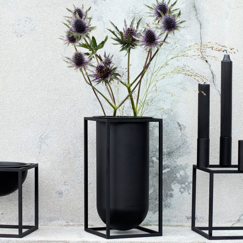 by lassen kubus vase lolo sort. Black Bedroom Furniture Sets. Home Design Ideas