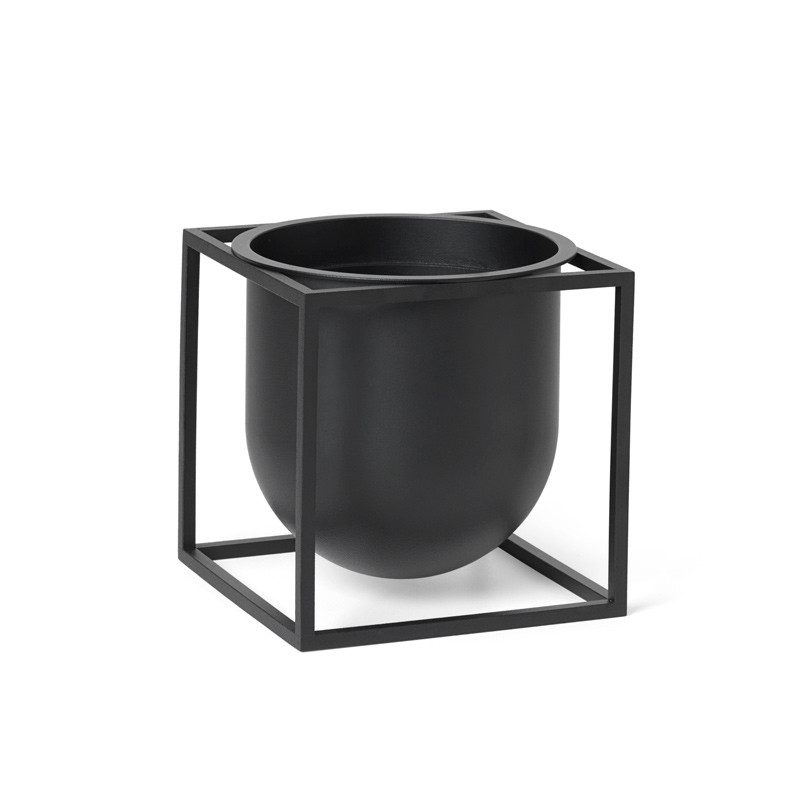 Image of   By Lassen Kubus Flowerpot 14 Black