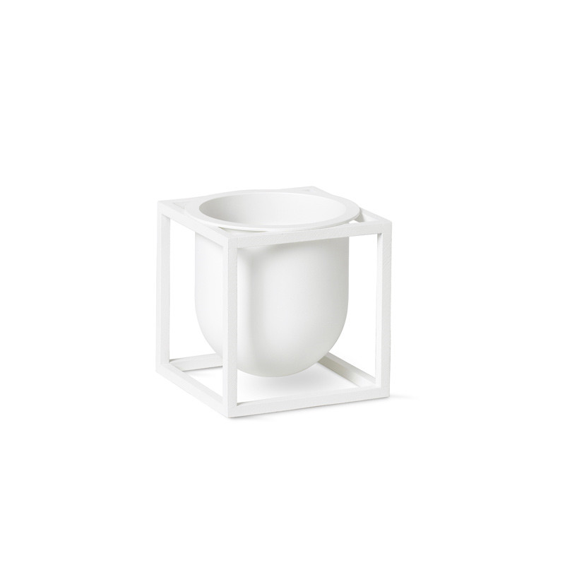 Image of   By Lassen Kubus Flowerpot 10 White