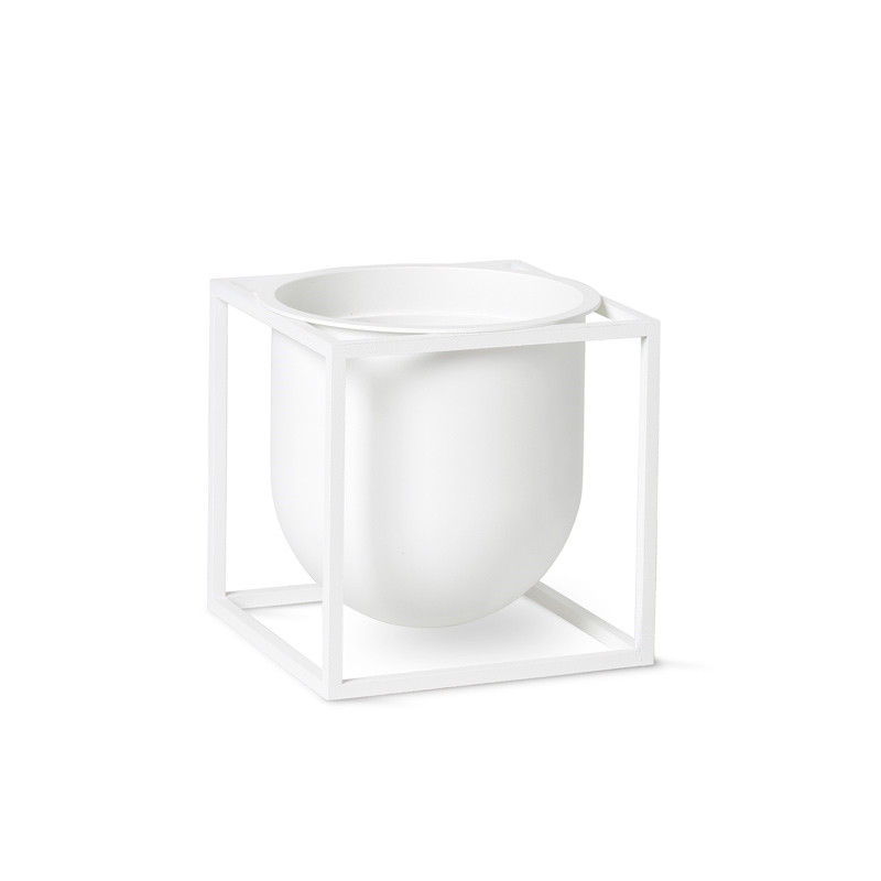 Image of   By Lassen Kubus Flowerpot 14 White