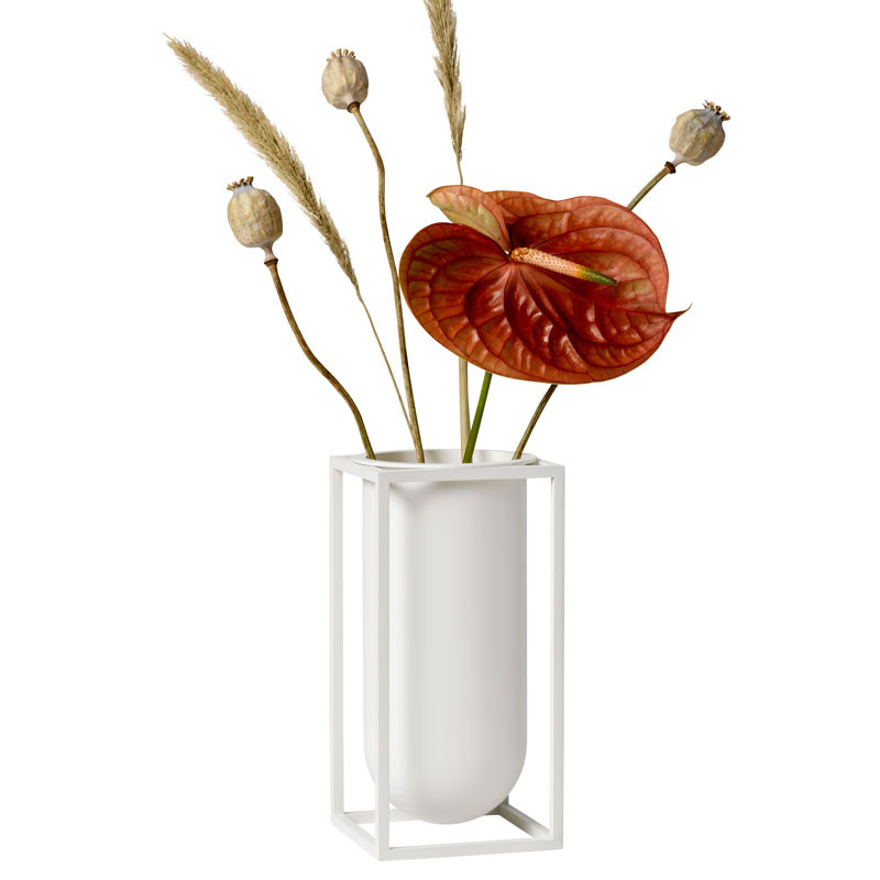 Image of   By Lassen Kubus Lily Vase Hvid