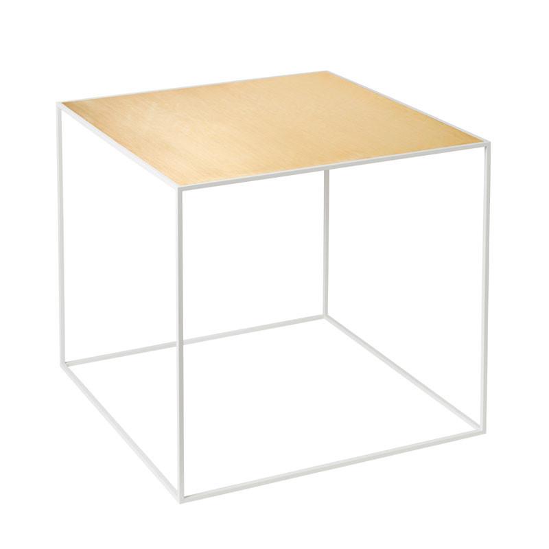 Image of   By Lassen Twin Table 42 Oak/Brass