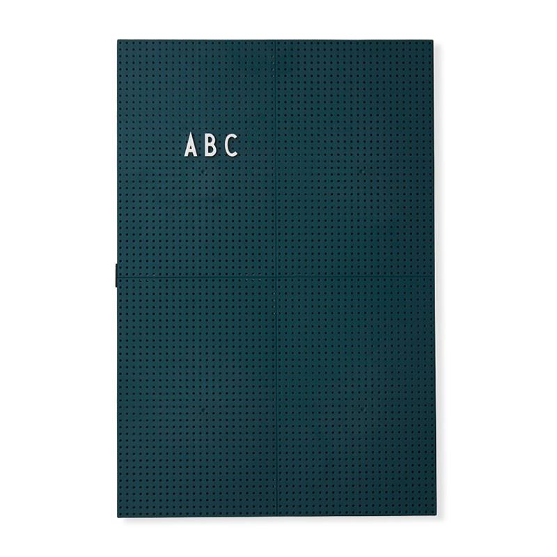 Image of   Design Letters Message Board A3 Mørkegrøn
