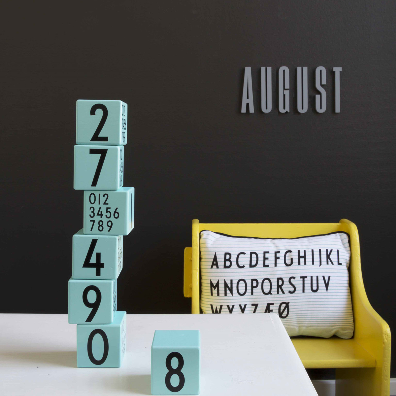 Image of   Design Letters AJ Wooden Cubes