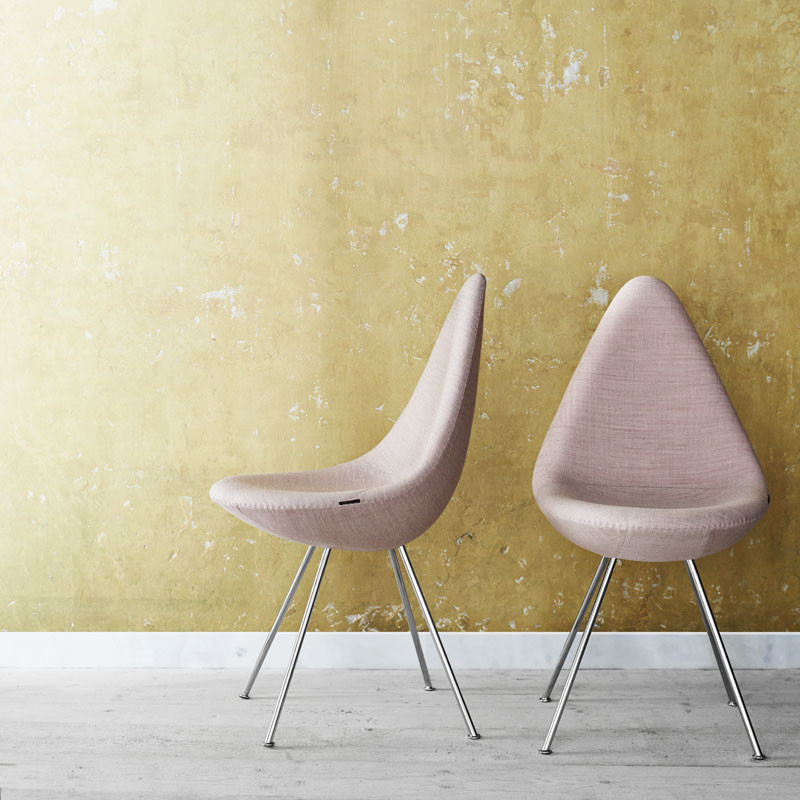 Image of   Fritz Hansen 3110 Drop Chair Fuldpolstret Stof
