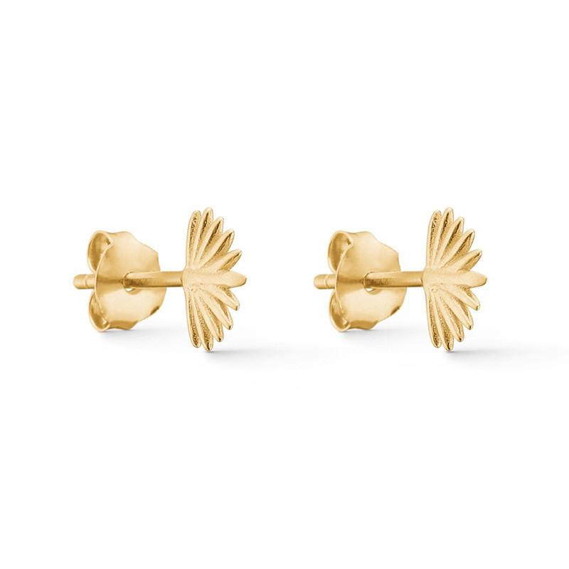 Image of   Enamel Copenhagen Sunrise Studs Gold-Plated