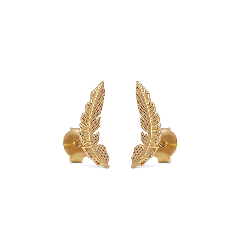 Image of   Enamel Copenhagen Birla Earrings Gold-Plated