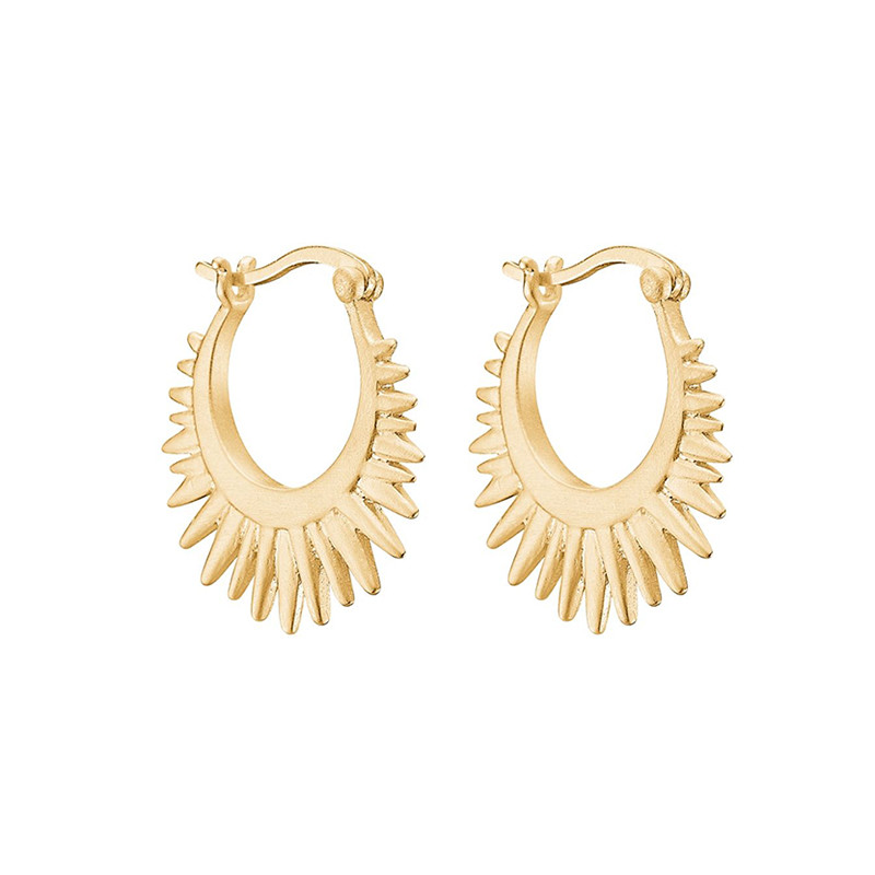 Image of   Enamel Copenhagen Sunrays Earrings Gold-Plated