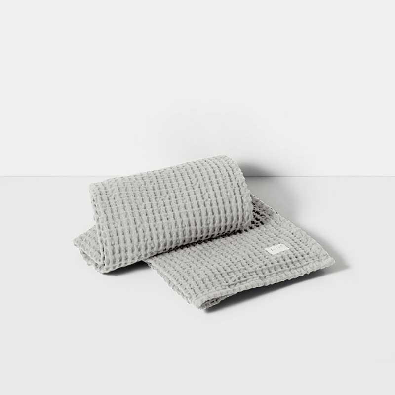 Ferm Living Organic Håndklæde Lysegrå